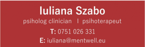 Psiholog Iuliana Szabo